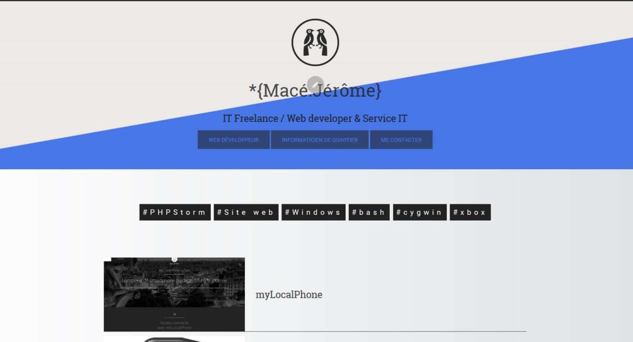 Nouveau site web Macé Jérôme