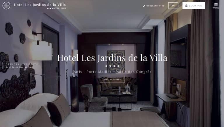 Nouveau site web Jardins de la villa