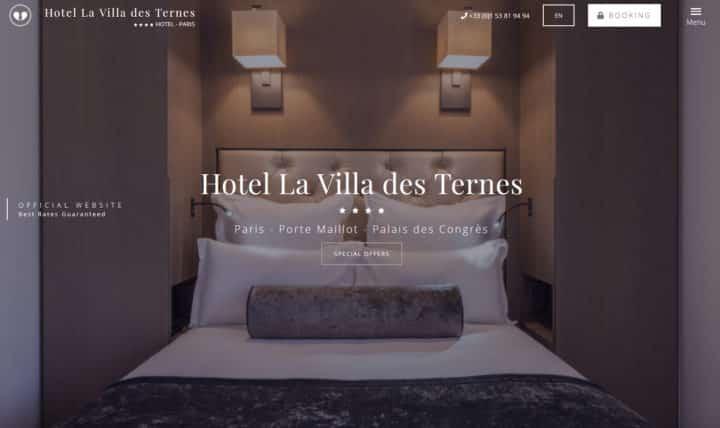 Nouveau site web La villa des Ternes
